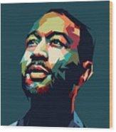 John Legend Wood Print