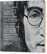 John Lennon - Imagine Wood Print