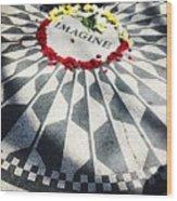 John Lennon- Imagine Wood Print