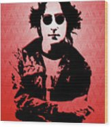 John Lennon - Imagine - Pop Art Wood Print
