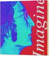 Imagine John Lennon In Profile Wood Print