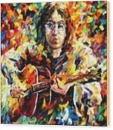 John Lennon Wood Print by Leonid Afremov