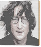 John Lennon - Parallel Hatching Wood Print
