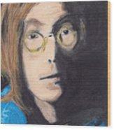 John Lennon Pastel Wood Print