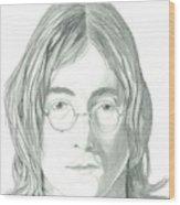 John Lennon Portrait Wood Print