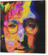 John Lennon Wood Print by Stephen Anderson