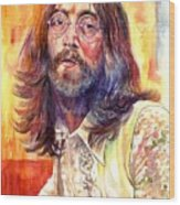 John Lennon watercolor Wood Print