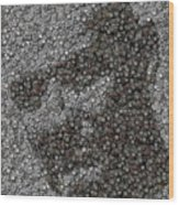 John Locke Dharma Button Mosaic Wood Print