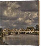 John Mack Bridge Wood Print by Fred Lassmann