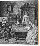 John Milton Dictating Paradise Lost Wood Print