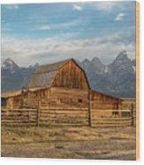 John Moulton Barn Sunrise Wood Print