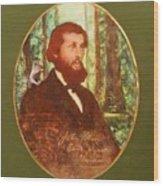 John Muir With A Chipmunk On His Shoulder Wood Print