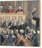 John Peter Zenger Trial Wood Print by Granger