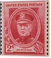 John Philip Sousa Postage Stamp Wood Print