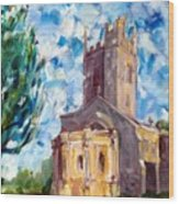 John Piper's Jewel - Sunningwell Church Wood Print