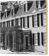 John Quincy Adams House Facade Wood Print
