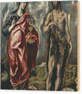 John The Baptist And Saint John The Evangelist Wood Print