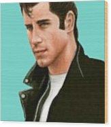John Travolta Grease Wood Print