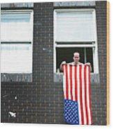 John Waves His Flag 3 Wood Print