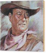 John Wayn Wood Print