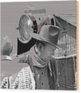 John Wayne And Director Howard Hawks  Alienated Rio Lobo Old Tucson Arizona 1970-2016 Wood Print