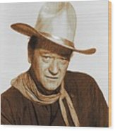 John Wayne, Hollywood Legend Wood Print