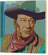 John Wayne Wood Print by John Keaton