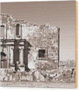 John Wayne's Alamo Mission Wood Print