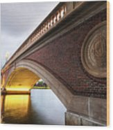 John Weeks Bridge Charles River Harvard Square Cambridge Ma Wood Print