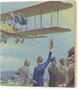John William Alcock And Arthur Whitten Brown Who Flew Across The Atlantic Wood Print