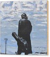 Johnny Cash - Going To Jackson Wood Print
