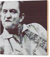 Johnny Cash Beer Cap Mosiac Wood Print