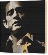 Johnny Cash - I Walk The Line  Wood Print