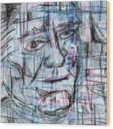 Johnny Cash Wood Print by Jera Sky