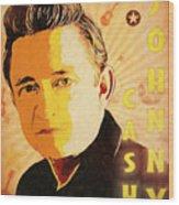 Johnny Cash Poster  Wood Print