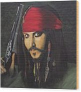 Johnny Depp- Captain Jack Wood Print