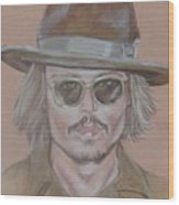 Johnny Depp Wood Print