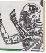 Johnny Manziel 10 Change The Play Wood Print by Jeremiah Colley
