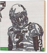 Johnny Manziel 11  Wood Print by Jeremiah Colley