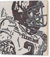 Johnny Manziel 5 Wood Print by Jeremiah Colley
