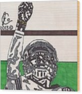 Johnny Manziel 7 Wood Print