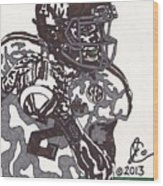 Johnny Manziel 8 Wood Print by Jeremiah Colley