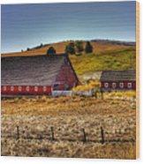 Johnson Road Barns Wood Print