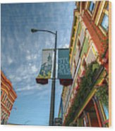 Johnson Street In Victoria B.c. Wood Print