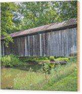 Johnson's Mill/salt Creek Covered Bridge  Wood Print