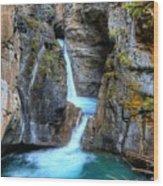 Johnston Canyon Falls Hike Upper Falls II Wood Print