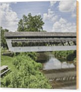 Johnston Covered Bridge Wood Print