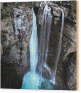 Johnston Creek Falls Wood Print