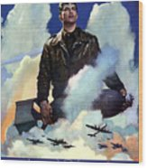Join The Army Air Forces Wood Print