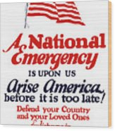 Arise America Before It Is Too Late - Join The Navy Wood Print
